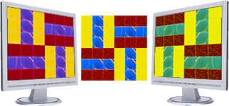 Glass mosaic on different devices