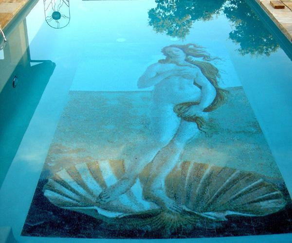 pool 100 glass mosaic tiles murals for your bathroom, kitchen or swimming pool