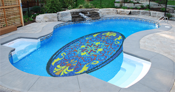 pool_01 100 glass mosaic tiles murals for your bathroom, kitchen or swimming pool
