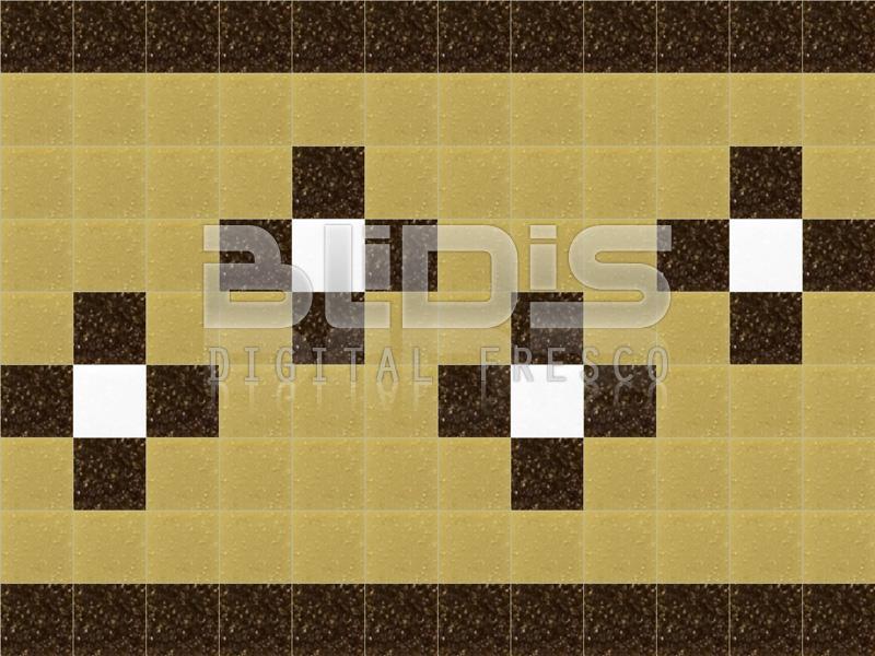 Glass Tiles Border for Decorative Facing: Tender Flowers - BLiDiS ltd.