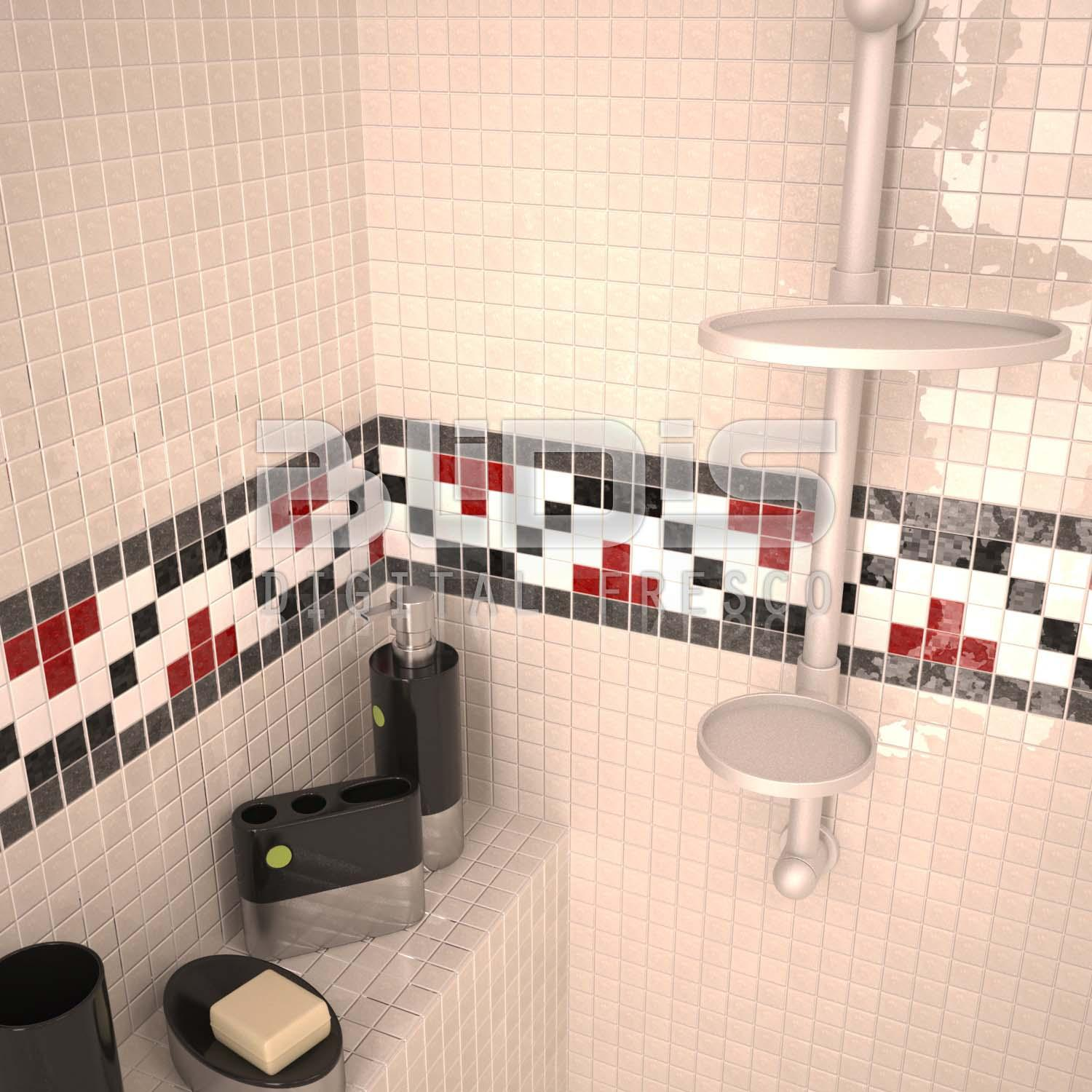 Glass Tiles In Bathroom: Glass Tiles Border: Colored Harmony 1
