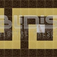 Glass Tiles Border for Interior / Exterior Accent: Brown Greek Key