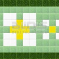 Glass Tiles Border for Interior/Exterior Facing: Daisies
