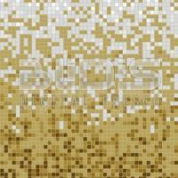 Glass Tile Mosaic Gradient: White Sand