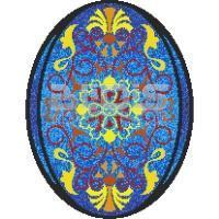 Glass Tile Medallion: Montecito Oval