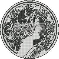 Glass Tile Medallion: Woman