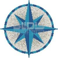 Glass mosaic Medallion: Compass