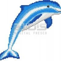 Mosaic Glass Tile - Dolphin
