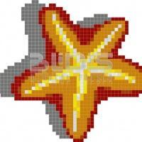 Glass Tile Mosaic for Decorative Facing: Starfish
