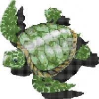 Glass Mosaic for Interior / Exterior Facing: Turtle