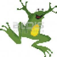 Glass Tile Figure for Interior / Exterior Decorative Facing: Frog