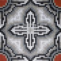 Glass Tile Repeating Pattern Module: Cross