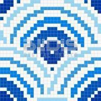 Glass Mosaic Repeating Pattern Module: Dizzi