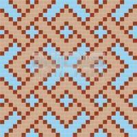 Glass Mosaic Repeating Pattern Module:  Inwrought Squares