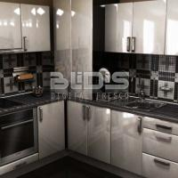 Glass Mosaic Repeating Pattern: Black and White Tracery - backsplash