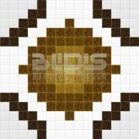 Glass Mosaic Repeating Pattern: Brown Spines - pattern