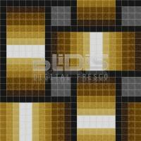 Glass Mosaic Repeating Pattern for Decorative Facing: Brown Rattan - pattern