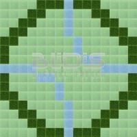 Glass Mosaic Repeating Pattern: Green Harmony - pattern