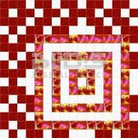 Glass Tiles Repeating Pattern: Red Squares - pattern