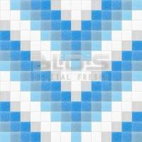 Glass Mosaic Repeating Pattern: Blue Stripe - pattern