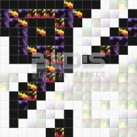 Glass Mosaic Repeating Pattern: Colored Origami - pattern