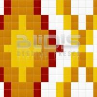 Glass Mosaic Repeating Pattern for Interior/Exterior Facing: Yellow Path - pattern