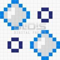 Glass MosaicRepeating Pattern for Decorative Application: Water Drops - pattern