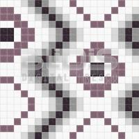 Glass Mosaic Repeating Pattern for Interior/Exterior Facing: Tracking Eyes - pattern
