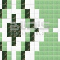 Glass Mosaic Repeating Pattern: Green Path - pattern
