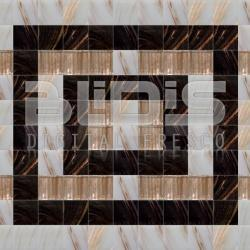 Glass Tile Border: Black Mark