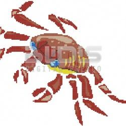 Glass Mosaic Figure for Interior / Exterior Facing: Crab 2