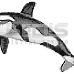 Glass Tile Decorative Mosaic: Killer Whale 3