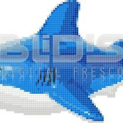 Glass Mosaic for Interior / Exterior Application: Shark