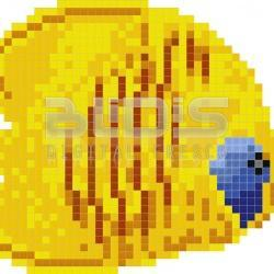 Glass Tile Mosaic: Butterfly Fish
