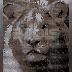 Glass Mosaic Mural: Lion 70-90sm