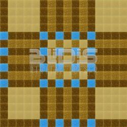 Mosaic Repeating Pattern: Brown Harmony with Blue Accent - pattern