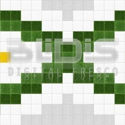 Glass Tiles Repeating Pattern: Fresh Daisies - pattern