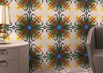 Glass Mosaic Repeating Patterns - tile size 10x10