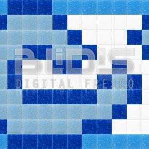 Glass Tiles Border: Blue Accent