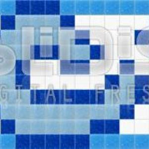 Glass Tiles Border: Blue Accent - tiled