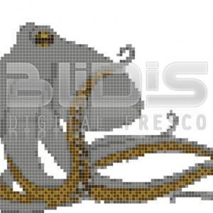 Glass Tile Panel for Interior / Exterior Facing: Octopus