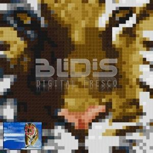 Glass Mosaic Mural: Tiger In Winter - zoom