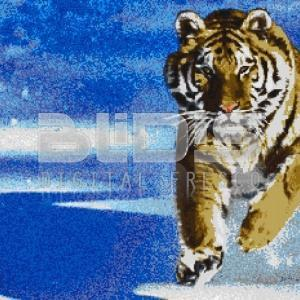 Glass Mosaic Mural: Tiger In Winter