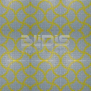 Glass Tile Repeating Pattern Module: Yellow Tracery
