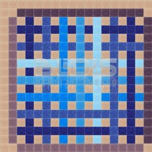 Glass Tiles Repeating Pattern for Decotarive Facing: Blue Grid - pattern