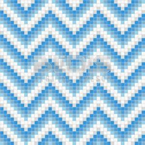 Glass Mosaic Repeating Pattern: Blue Stripe - pattern tiled