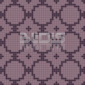 Glass Tiles Repeating Pattern: Purple Flowers - pattern tiled