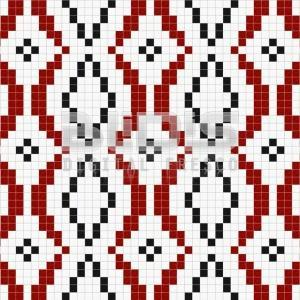 Glass Tiles Repeating Pattern: Red Path - tiled