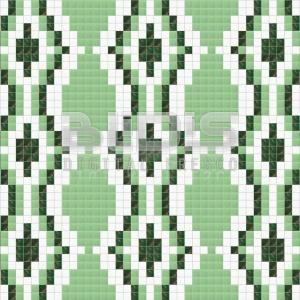 Glass Mosaic Repeating Pattern: Green Path - pattern tiled