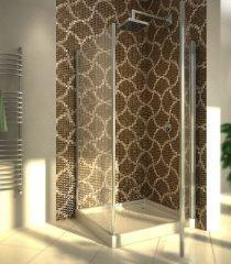 Glass tiles mosaic for bathroom.